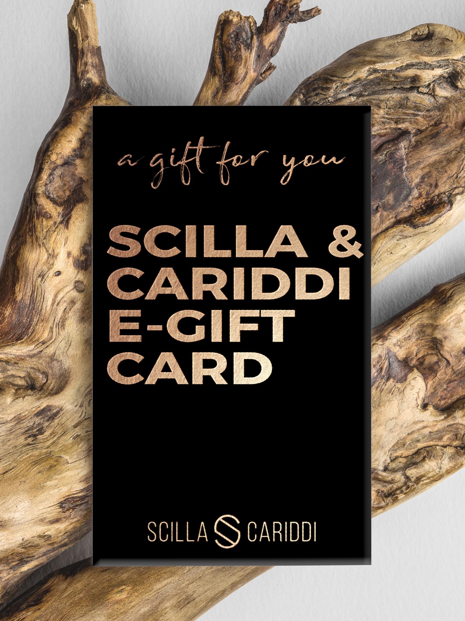 tarjeta regalo bolso mujer scilla e cariddi